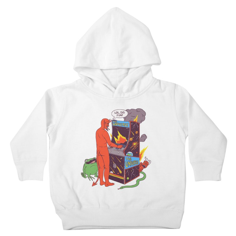 Satan Controlling the Universe Kids Toddler Pullover Hoody by hillarywhiterabbit's Artist Shop