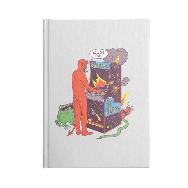 Satan Controlling the Universe Accessories Notebook by hillarywhiterabbit's Artist Shop