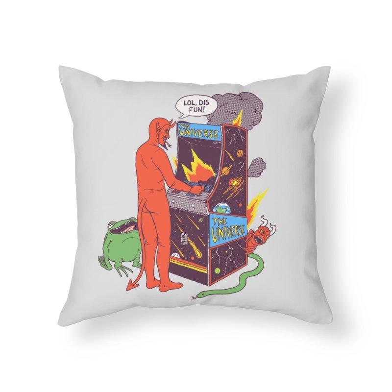 Satan Controlling the Universe Home Throw Pillow by hillarywhiterabbit's Artist Shop