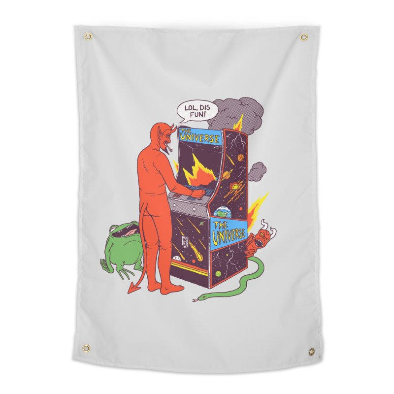 Satan Controlling the Universe Home Tapestry by hillarywhiterabbit's Artist Shop