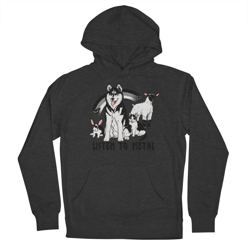 Listen To Metal Women's French Terry Pullover Hoody by hillarywhiterabbit's Artist Shop