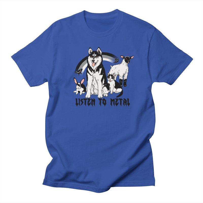 Listen To Metal Women's Regular Unisex T-Shirt by hillarywhiterabbit's Artist Shop