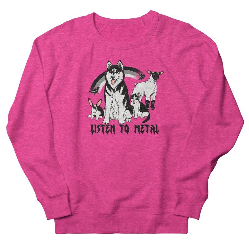 Listen To Metal Women's French Terry Sweatshirt by hillarywhiterabbit's Artist Shop