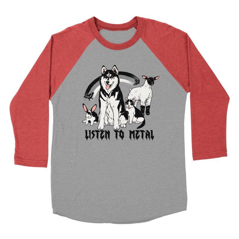 Listen To Metal Women's Baseball Triblend Longsleeve T-Shirt by hillarywhiterabbit's Artist Shop