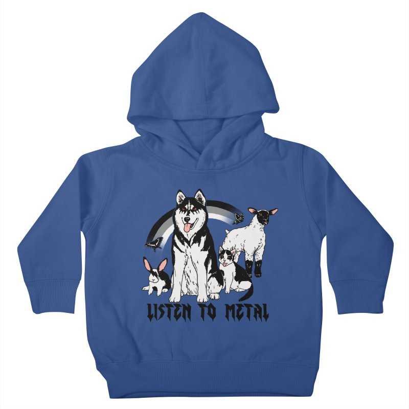 Listen To Metal Kids Toddler Pullover Hoody by Hillary White