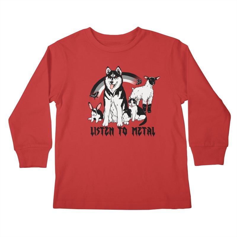 Listen To Metal Kids Longsleeve T-Shirt by Hillary White
