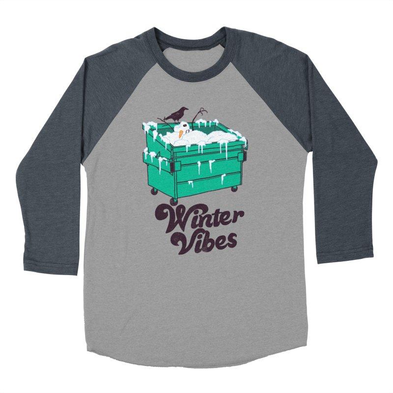 Winter Vibes Women's Baseball Triblend Longsleeve T-Shirt by hillarywhiterabbit's Artist Shop