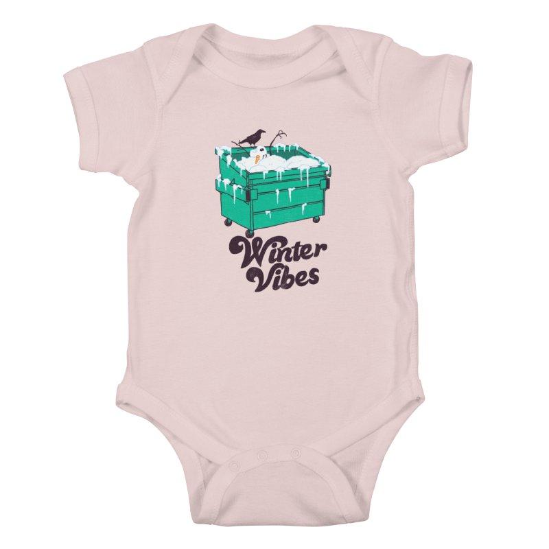 Winter Vibes Kids Baby Bodysuit by hillarywhiterabbit's Artist Shop