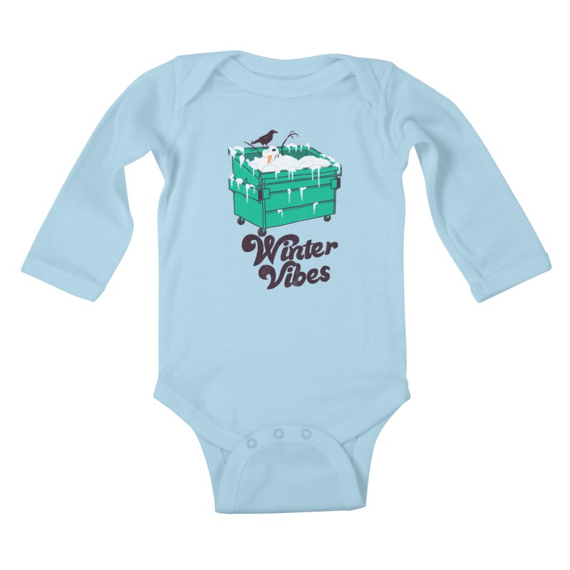 Winter Vibes Kids Baby Longsleeve Bodysuit by Hillary White
