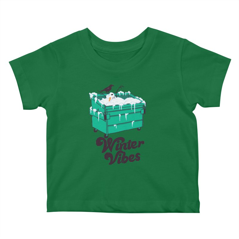 Winter Vibes Kids Baby T-Shirt by Hillary White
