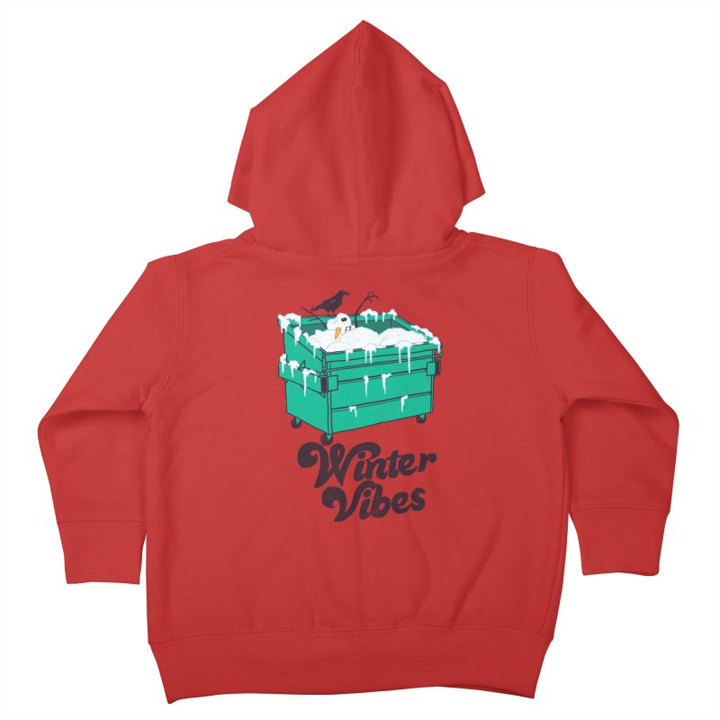 Winter Vibes Kids Toddler Zip-Up Hoody by Hillary White