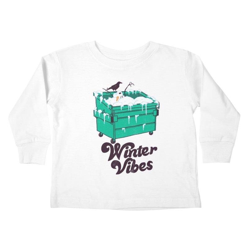 Winter Vibes Kids Toddler Longsleeve T-Shirt by Hillary White
