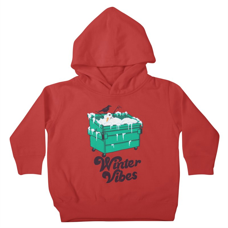 Winter Vibes Kids Toddler Pullover Hoody by hillarywhiterabbit's Artist Shop
