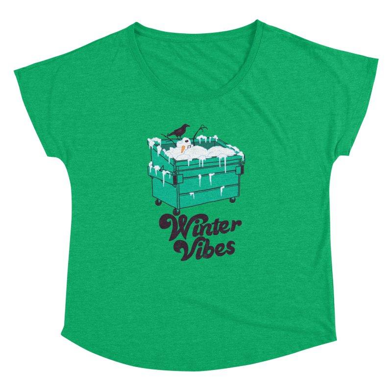 Winter Vibes Women's Dolman Scoop Neck by hillarywhiterabbit's Artist Shop