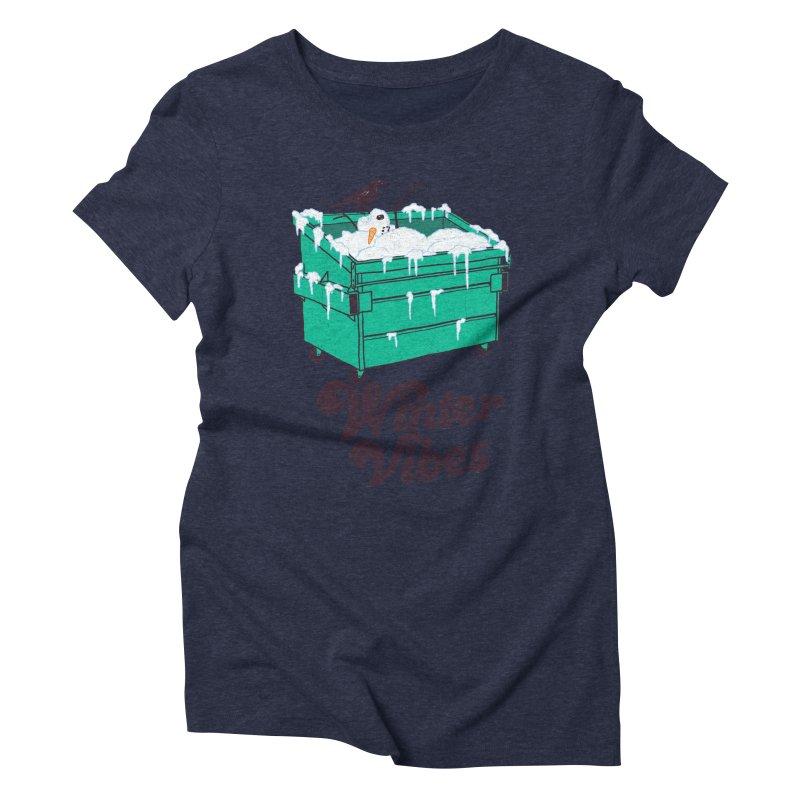 Winter Vibes Women's Triblend T-Shirt by hillarywhiterabbit's Artist Shop