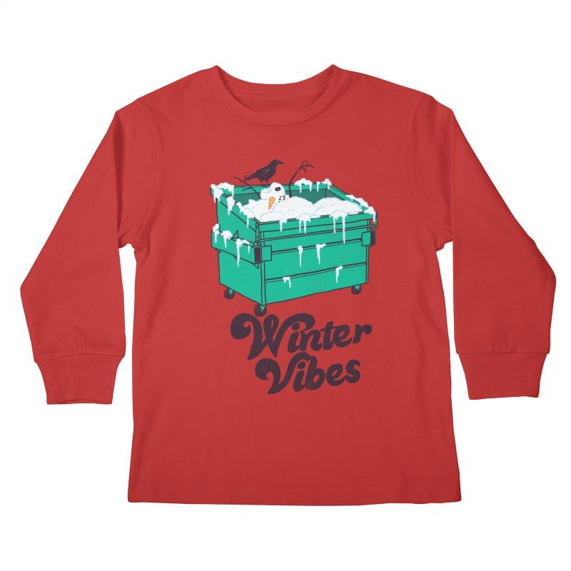 Winter Vibes Kids Longsleeve T-Shirt by hillarywhiterabbit's Artist Shop