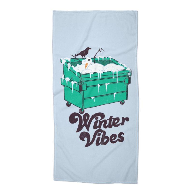 Winter Vibes Accessories Beach Towel by hillarywhiterabbit's Artist Shop
