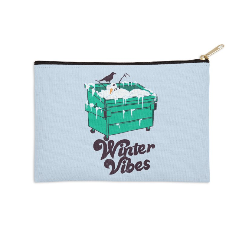 Winter Vibes Accessories Zip Pouch by hillarywhiterabbit's Artist Shop