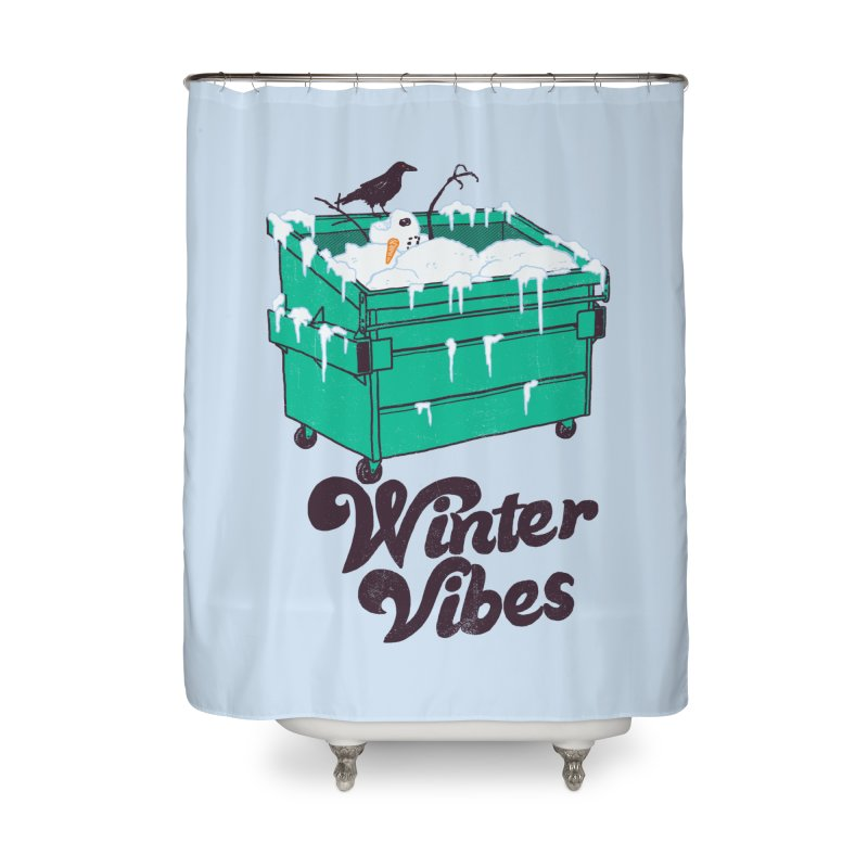 Winter Vibes Home Shower Curtain by hillarywhiterabbit's Artist Shop