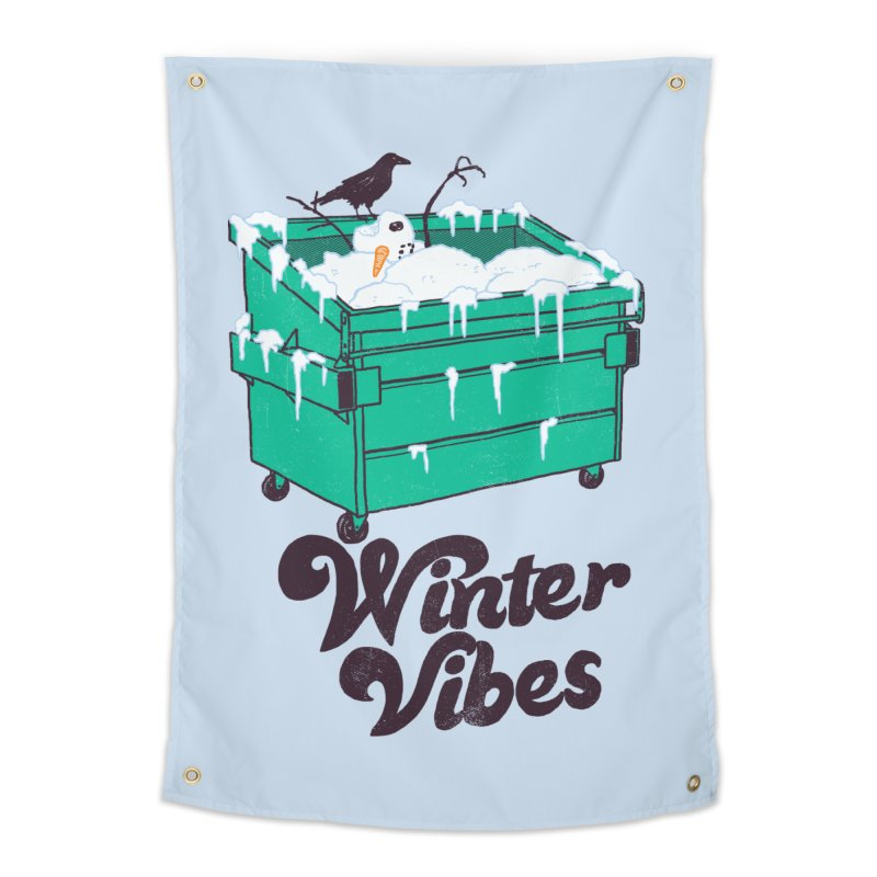 Winter Vibes Home Tapestry by hillarywhiterabbit's Artist Shop