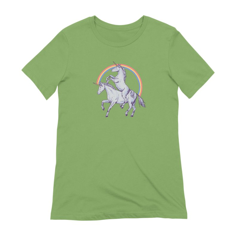 Unicorn Rider Women's Extra Soft T-Shirt by Hillary White