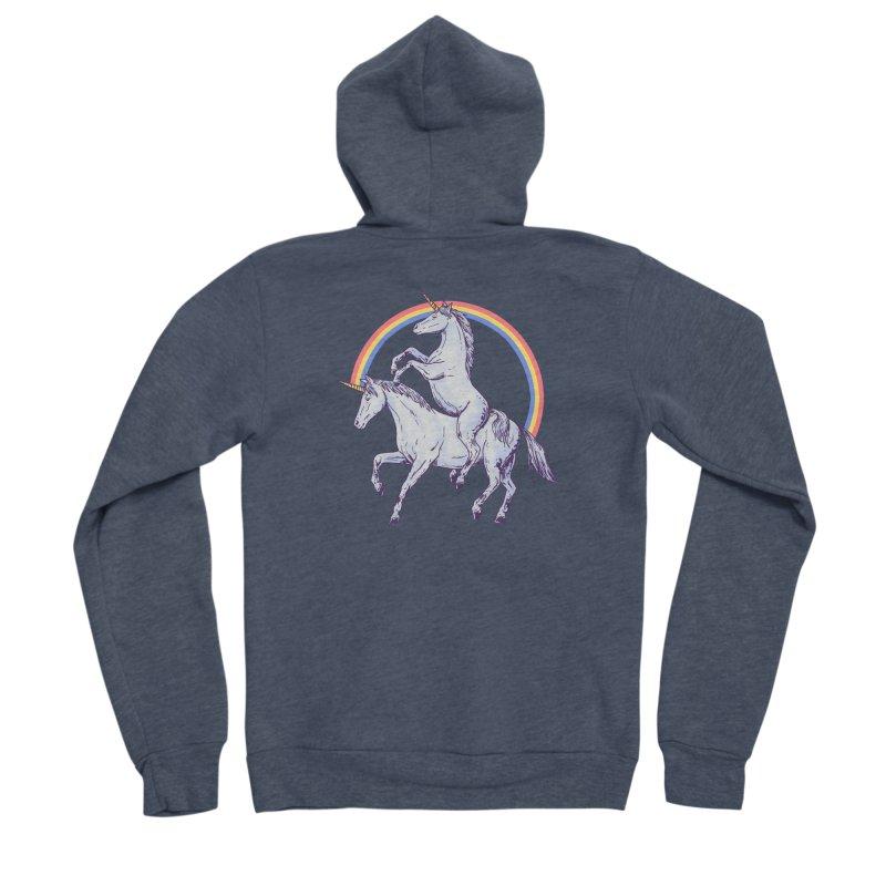 Unicorn Rider Women's Sponge Fleece Zip-Up Hoody by Hillary White