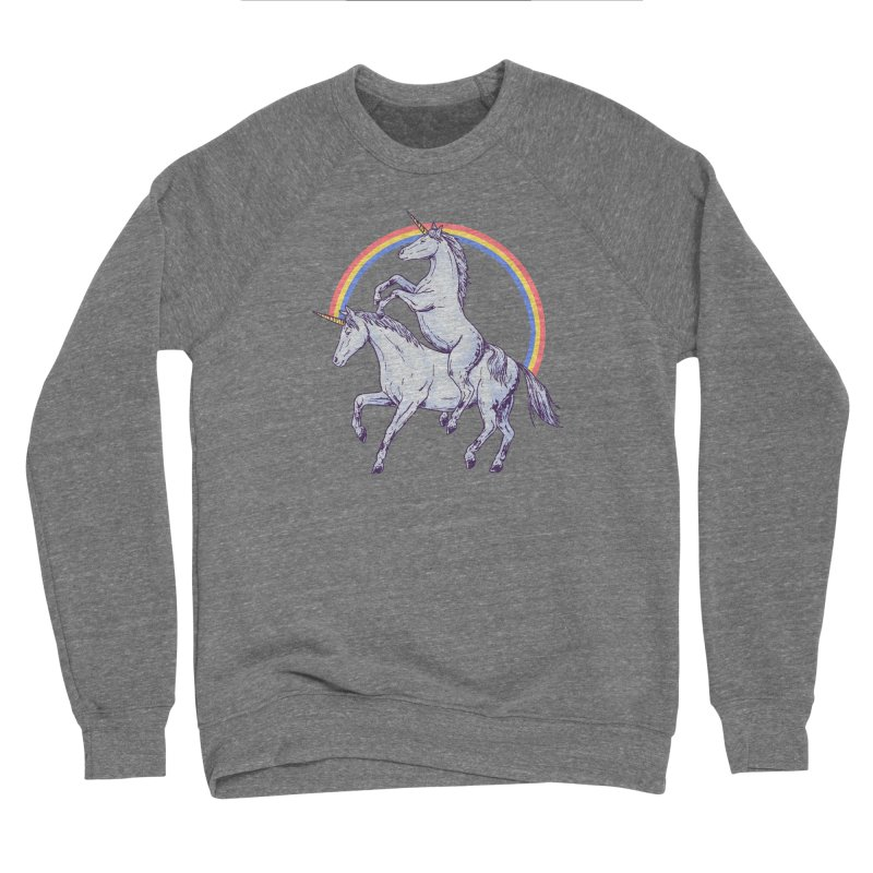 Unicorn Rider Men's Sponge Fleece Sweatshirt by Hillary White