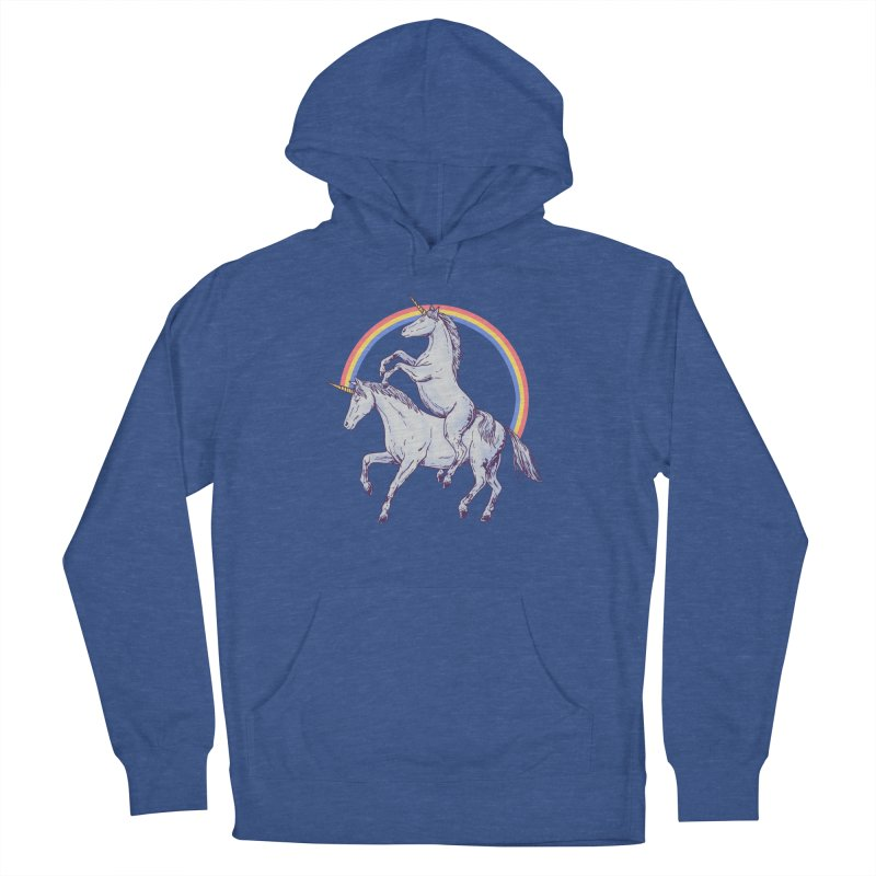 Unicorn Rider Men's French Terry Pullover Hoody by Hillary White