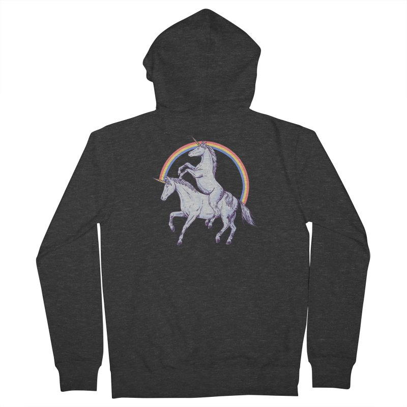 Unicorn Rider Women's French Terry Zip-Up Hoody by Hillary White
