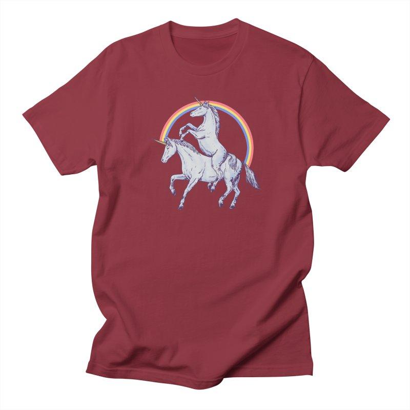Unicorn Rider Men's Regular T-Shirt by Hillary White