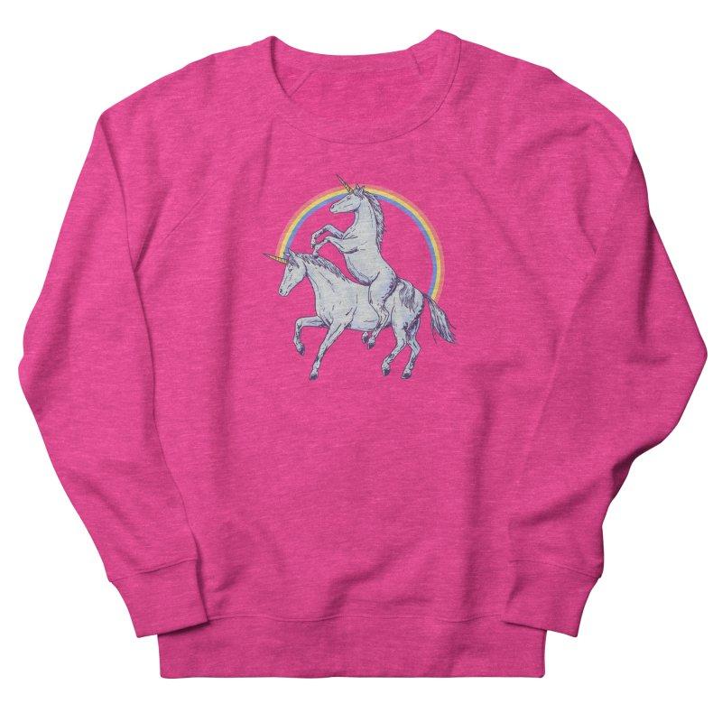 Unicorn Rider Women's French Terry Sweatshirt by hillarywhiterabbit's Artist Shop