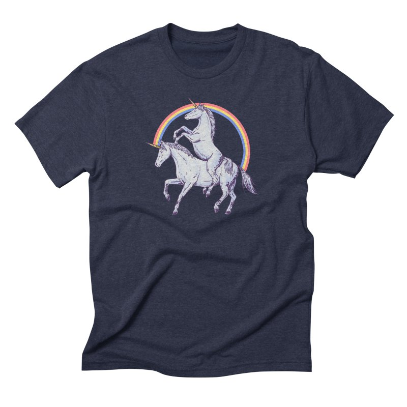 Unicorn Rider Men's Triblend T-Shirt by Hillary White