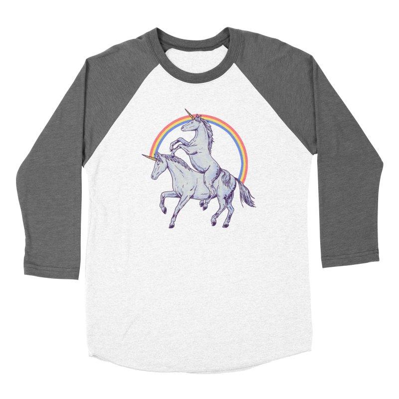 Unicorn Rider Women's Baseball Triblend Longsleeve T-Shirt by hillarywhiterabbit's Artist Shop