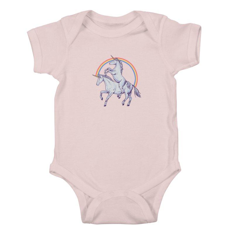 Unicorn Rider Kids Baby Bodysuit by hillarywhiterabbit's Artist Shop