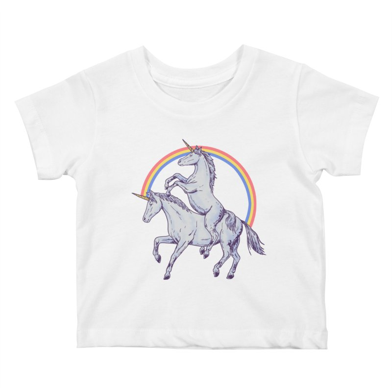 Unicorn Rider Kids Baby T-Shirt by Hillary White