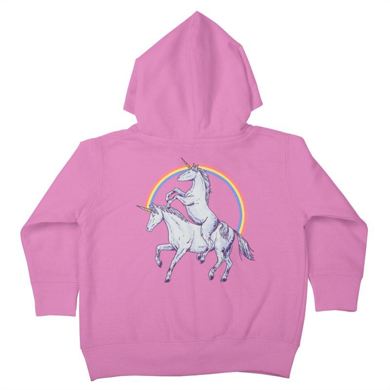 Unicorn Rider Kids Toddler Zip-Up Hoody by Hillary White