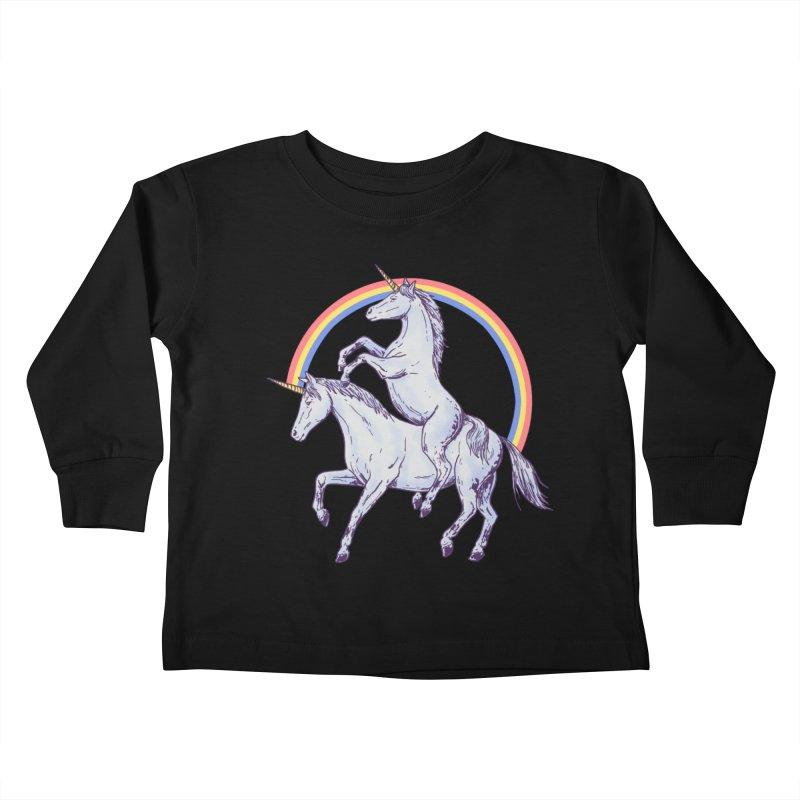 Unicorn Rider Kids Toddler Longsleeve T-Shirt by Hillary White