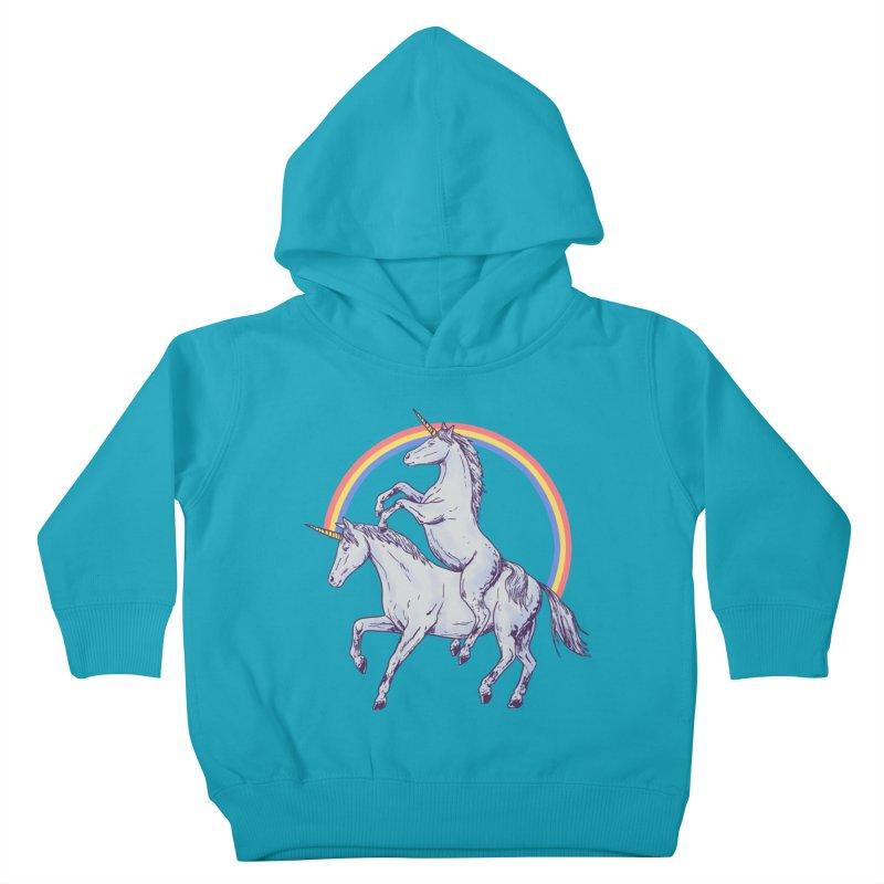 Unicorn Rider Kids Toddler Pullover Hoody by Hillary White