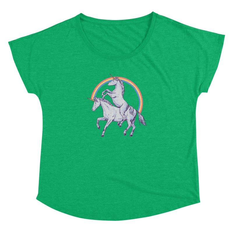 Unicorn Rider Women's Dolman Scoop Neck by Hillary White