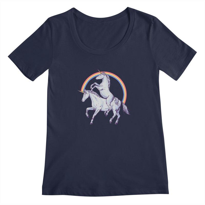 Unicorn Rider Women's Regular Scoop Neck by hillarywhiterabbit's Artist Shop