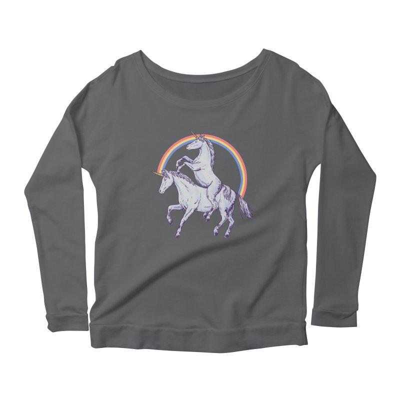 Unicorn Rider Women's Scoop Neck Longsleeve T-Shirt by Hillary White