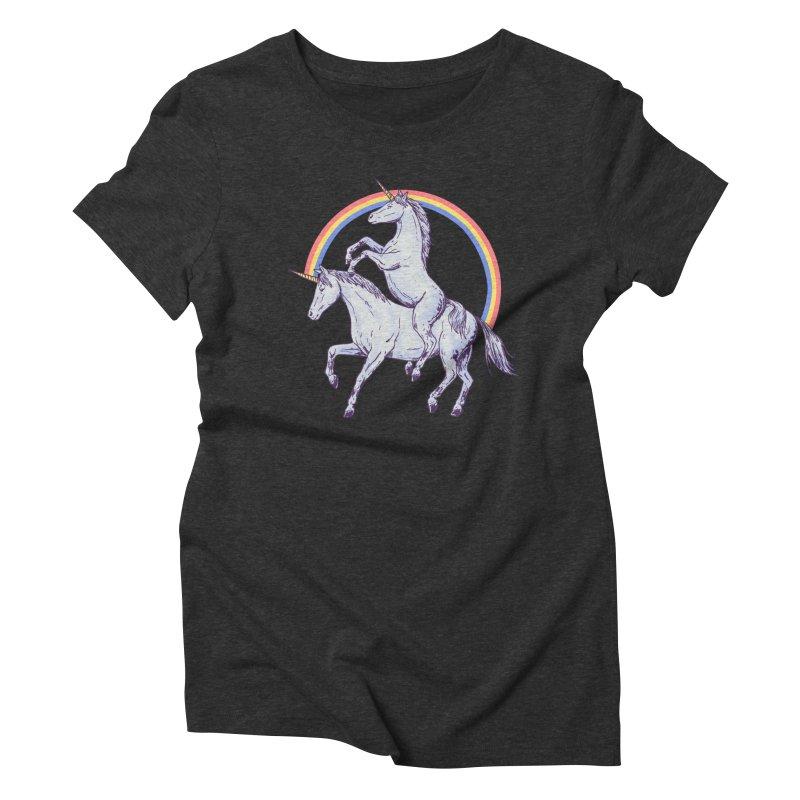 Unicorn Rider Women's Triblend T-Shirt by Hillary White