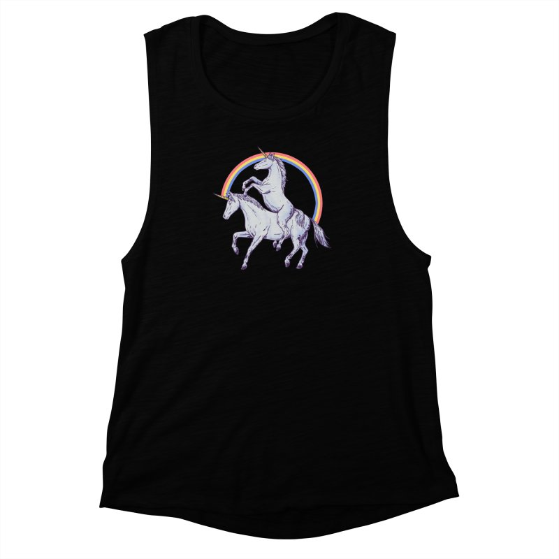 Unicorn Rider Women's Muscle Tank by Hillary White