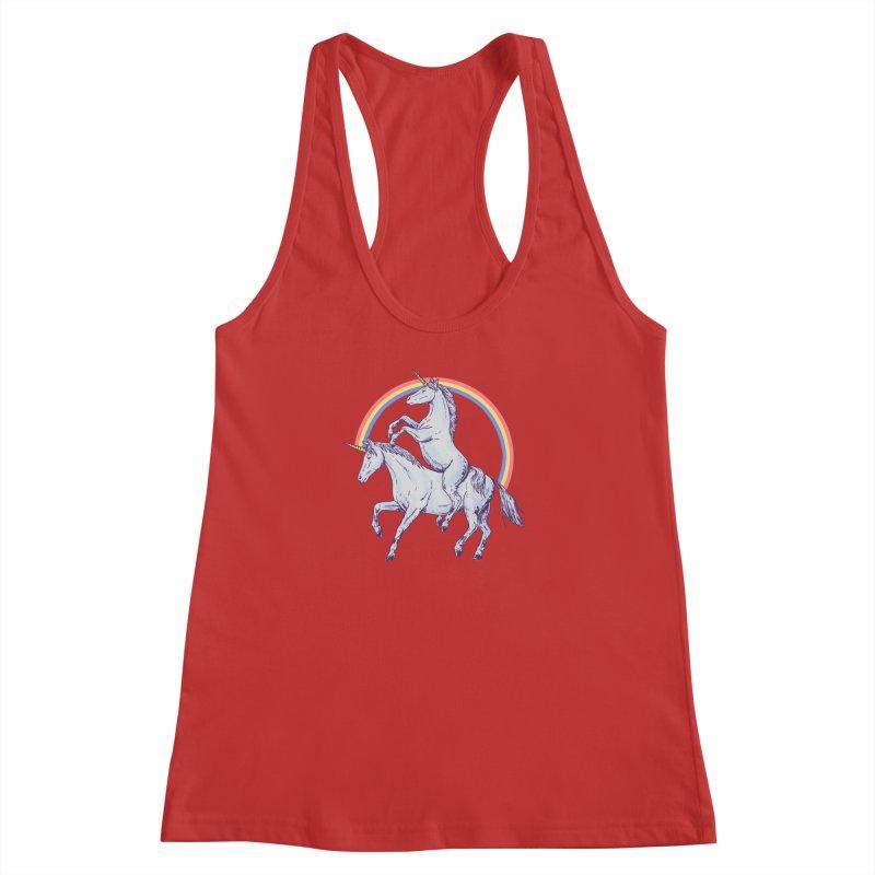 Unicorn Rider Women's Racerback Tank by Hillary White