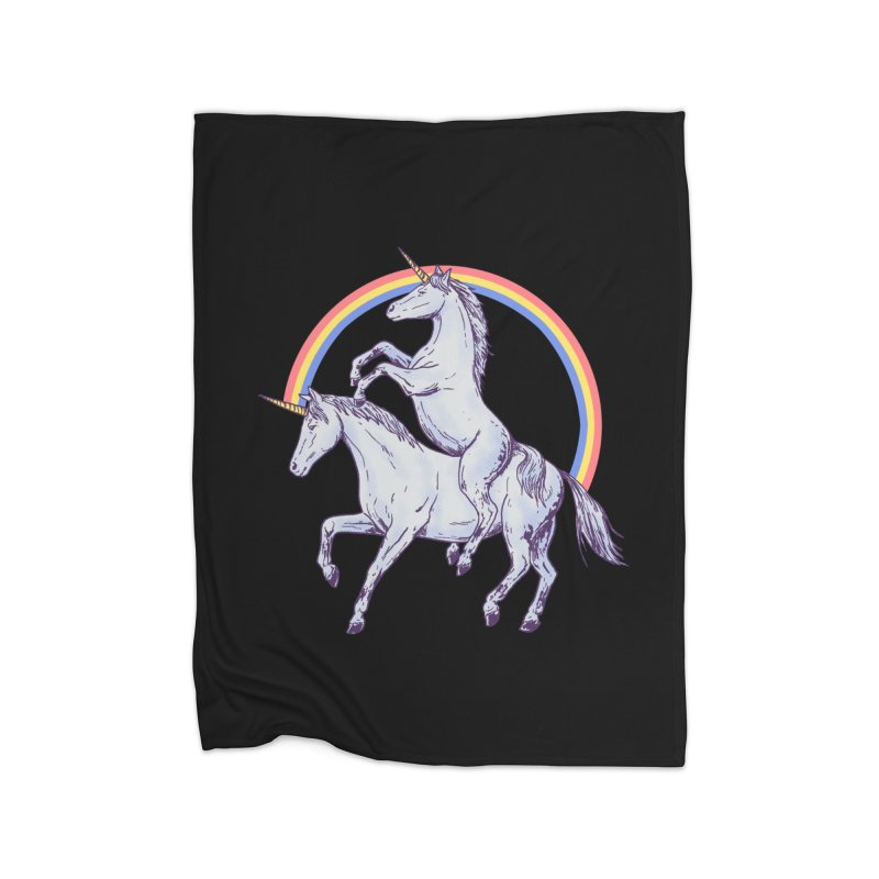 Unicorn Rider Home Blanket by Hillary White
