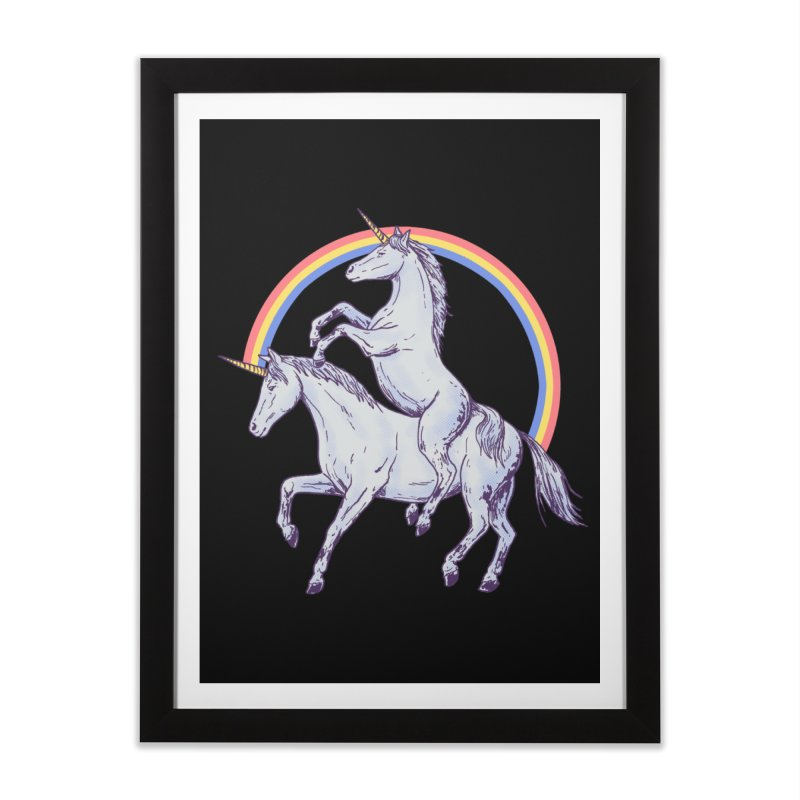 Unicorn Rider Home Framed Fine Art Print by Hillary White