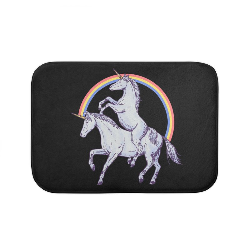 Unicorn Rider Home Bath Mat by Hillary White