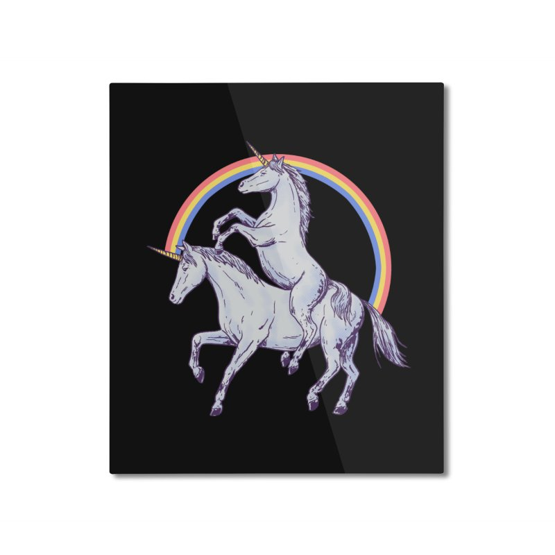 Unicorn Rider Home Mounted Aluminum Print by Hillary White