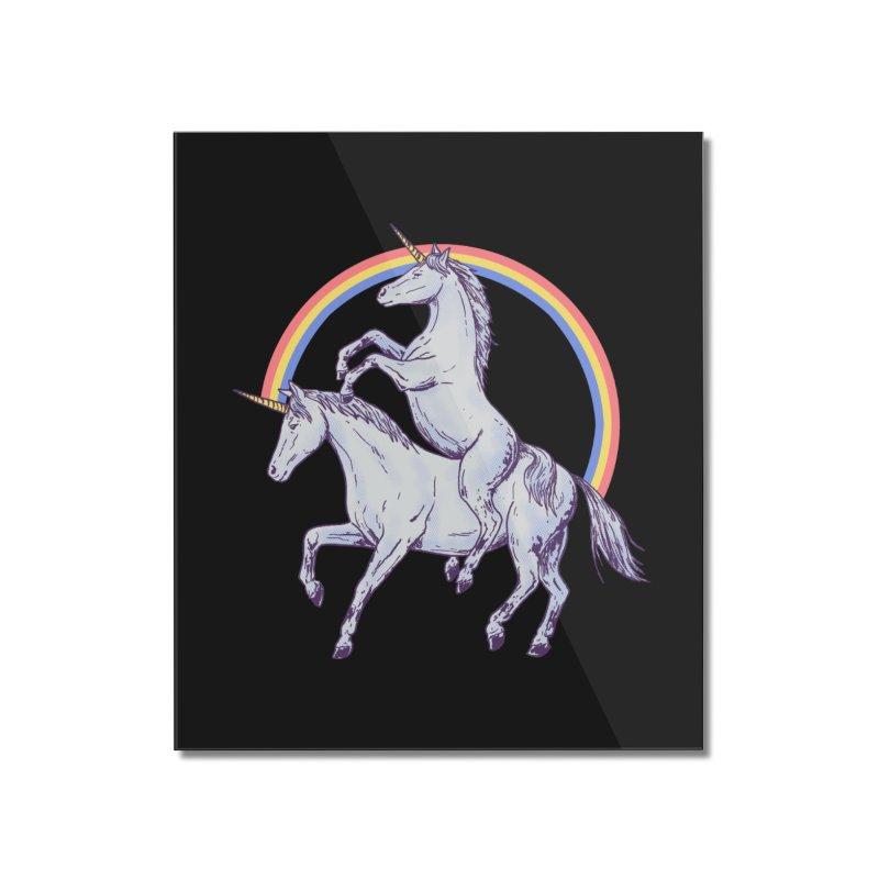 Unicorn Rider Home Mounted Acrylic Print by Hillary White