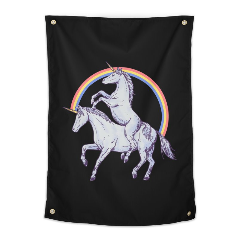 Unicorn Rider Home Tapestry by Hillary White